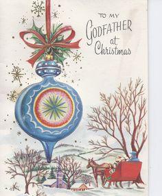 C393  Vintage Christmas Greeting Card by jarysstuff on Etsy