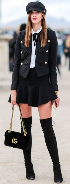60 Trending Street Style Outfits To Try Right Now Black + White Fall Fashion Outfits, Stylish Outfits, Winter Fashion, Womens Fashion, Fashion Trends, Paris Fashion, Fashion 2016, Work Outfits, Street Fashion