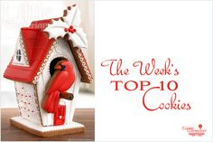 #COOKIE CONNECTION ALERT: Lots of great Christmas cookie inspiration in this week's Saturday Spotlight. COOKIE BIRDHOUSE PICTURED BY Little Wonderland! http://cookieconnection.juliausher.com/blog/saturday-spotlight-top-10-cookies-of-the-week-1