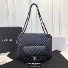 Authentic Quality Perfect 1 Mirror Replica Chanel Navy Blue Black Calfskin Camera Case