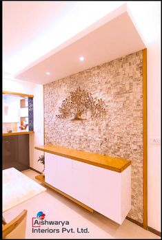 3 Bhk , Full Interiors Designed and executed by Aishwarya Interiors bangalore. Interior Design Companies, Modern Interior Design, Contemporary Design, Pooja Room Design, Stone Cladding, Pooja Rooms, Best Interior, Luxury, Foyer Ideas
