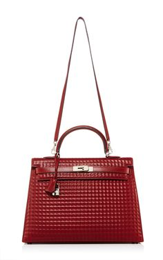e854a658f1ec Hermes 35cm Rouge H Calf Box Leather Waffle Kelly by HERITAGE AUCTIONS  SPECIAL COLLECTION for Preorder