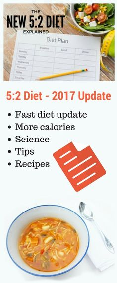 The new 5:2 Diet. Updated for 2017 with more calories, science, tips and recipes. www.tinnedtomatoes.com #vegetarian #vegan