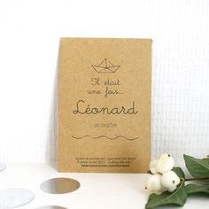 Faire part naissance - sachets de graines personnalisés pour vos invités