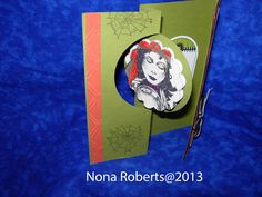www.quwikcards.blogspot.com Used Thinlits Cirlce card set to make card. Stampin up paper. My own art work.