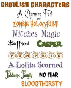 11 Frightful Fonts for your Halloween crafts