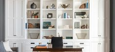 Recreate Our Favorite Office Spaces Studio Mcgee, Studio Kitchen, Home Studio, Rug Studio, Office Wall Decor, Office Walls, Dark Wood Desk, Home Office Cabinets, Open Concept Home