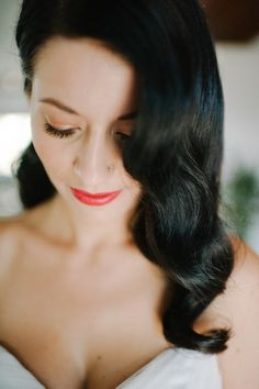 stunning retro waves + red lips // photo by SheaChristine.com