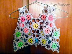Multicolor bolero. Crochet Pattern. Continuous Joining