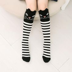 ea99d0ac7 Cartoon Cute Children Socks. Girls Knee High SocksOver Knee SocksWomen s  SocksFox SocksTube ...