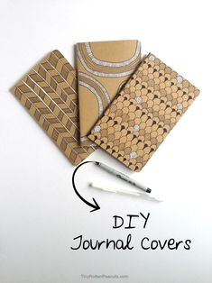 DIY some cool journal covers • Tiny Rotten Peanuts