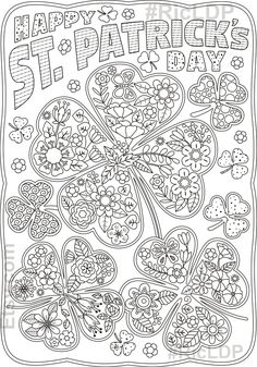 Clover Leaf Coloring Page page Free Adult Coloring, Coloring For Kids, Coloring Books, Leaf Coloring, Coloring Sheets, St Patricks Day Crafts For Kids, St Patrick's Day Crafts, March Crafts, Diy Crafts