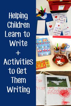 Post image for Helping Children Learn to Write + 8 Activities to Get Them Writing from Childhood 101 Preschool Literacy, Kindergarten Writing, Kids Writing, Teaching Writing, Literacy Activities, Teaching Kids, Writing Ideas, Teaching Handwriting, Handwriting Activities