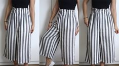36 Amazing Street Style Looks You Will Want To Keep Sewing Pants, How To Hem Pants, Techniques Couture, Girl Dress Patterns, Rolled Hem, Mode Hijab, Pants Pattern, Street Style Looks, Cropped Pants