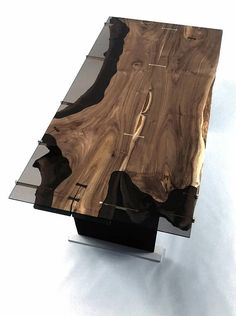 Fine Wood Table Designs Look around as you move throughout your day. You see examples of man's mastery of woodworking everywhere. Resin Furniture, Small Furniture, Dining Furniture, Wood Resin Table, Wooden Tables, Walnut Dining Table, Dinning Table, Wood Table Design, Table Designs