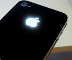 Iphone Rear Apple Glow Mod. Makes Apple logo glow when you receive a text or notification.