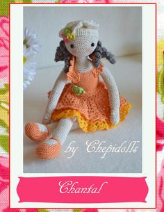 Collectible doll Elegant crochet doll child friendly von chepidolls