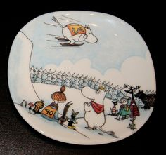 Hyppymäessä / Jump Slope Tove Jansson, Moomin Valley, Miffy, Happy Weekend, Plates On Wall, All Art, Kitsch, My Love, Creative