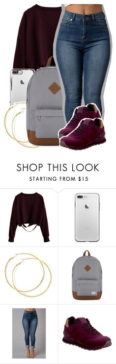 """""""Sem título #2134"""" by isabellacarolina161 ❤ liked on Polyvore featuring Herschel Supply Co. and New Balance"""