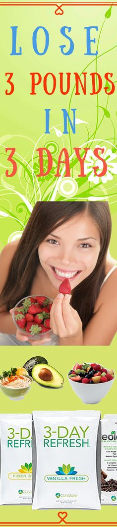 Give your body a 3 day cleanse and lose 3 pounds in 3 days.  ~ www.welfm.com/blog