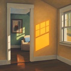 Jim Holland. Look at the glowing edges on the light falling on the wall. Beautiful.