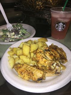 Field Salad with homemade dressing served with Roasted Lemon Pepper Blonde Potatoes and Chicken Wings