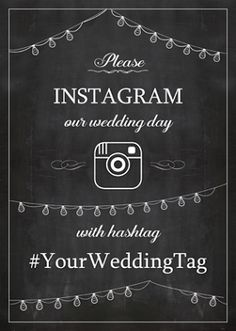 Wedding signs hashtag free printable 53 ideas for 2019 Instagram Wedding Sign, Wedding Hashtag Sign, Instagram Sign, Wedding Signs, Diy Wedding, Wedding Wall, Free Instagram, Wedding Ideas, Our Wedding Day