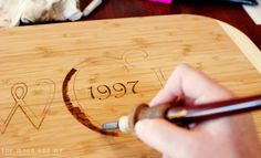 Wood-burned monogram cutting board! These would make great wedding gifts!