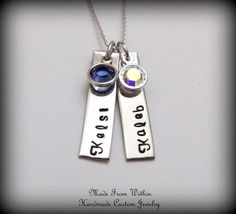 Hand Stamped Mommy Necklace Children Name Tag by MadeFromWithin, $49.00