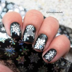 1Pc Christmas Snowflake Holographic Nail Foils Nail Art Transfer Stickers Wraps Decorations Manicure Paper