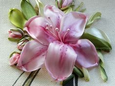 Wonderful Ribbon Embroidery Flowers by Hand Ideas. Enchanting Ribbon Embroidery Flowers by Hand Ideas. Embroidery Designs, Ribbon Embroidery Tutorial, Types Of Embroidery, Silk Ribbon Embroidery, Embroidery Stitches, Embroidery Supplies, Ribbon Art, Ribbon Crafts, Ribbon Flower