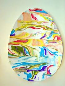 Perfectly Imperfect: Shaving Cream Painted Easter Egg Cards