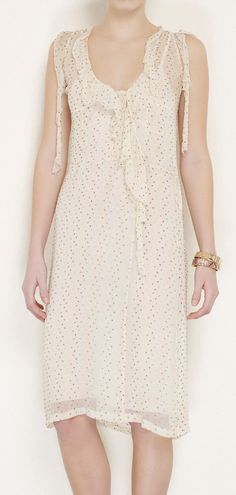 Clements Ribeiro Cream And Multi Color Dress