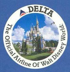 Vintage Delta logo mid the official airline of Walt Disney World. We went at this time ! Disney World Florida, Walt Disney World, Delta Plane, Delta Logo, Airline Logo, Disney Destinations, Logo Sticker, Model Airplanes, Vintage Disney