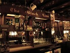 The Black Lion Pub, setting.