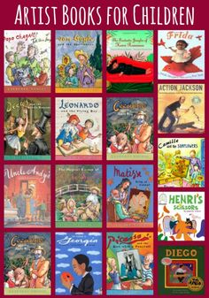 The Art Curator for Kids - Childrens Books about the Lives of the Artists - Artist Books for Kids Cindy @ The Art Curator for Kids Art Books For Kids, Childrens Books, Art For Kids, Kid Books, The Artist Movie, Art Curriculum, Kid Movies, Preschool Art, Art Studies