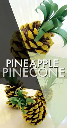 How to make a pineapple out of a recycled pine cone – Recycled Crafts Pine Cone Art, Pine Cones, Summer Crafts, Diy And Crafts, Pine Cone Crafts For Kids, Recycled Crafts Kids, Simple Crafts, Felt Crafts, Kids Crafts
