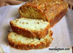Manila Spoon: Apple Praline Bread - no oil or butter is used yet so moist and delicious and with a crunchy and nutty Praline topping that's truly superb!