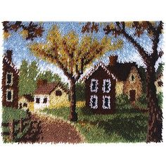 Caron Wonderart Latch Hook Kit, Country Cottages