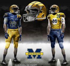 MICHIGAN GO BLUE!! Helmets are frickin sick!