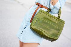 Green Tote by BARNETO