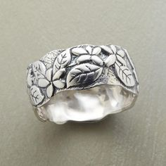 leaf and petal ring