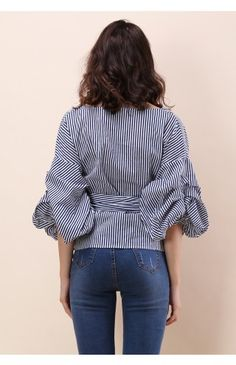 Enchanting Echo Wrapped Top in Stripe - Buyer's Pick - Retro, Indie and Unique Fashion