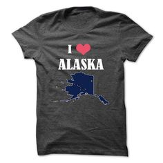 I Love Alaska T Shirt at Lowest Price and Free Shipping