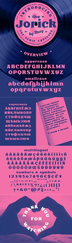 Jorick - Jorick is a serif font design published by Andriy Dykun.