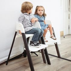 Our Stokke Steps chairs fit kids of all ages and sizes thanks to the adjustable seat and footplate that can be moved as your child grows.  Find out more about this and the Stokke Steps seating system now.
