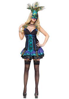 Midnight Peacock Costume, Ladies Fancy Dress - Animals at Escapade