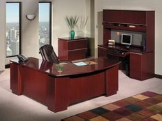 "Bush Milano2 Series 72"" Office Desk Bundle Home Office For Sale"