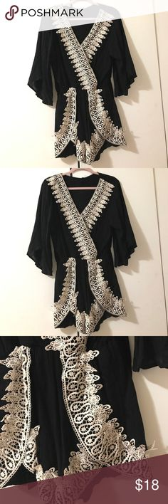 New With Tags Black Lace Romper Size Large Brand New Never Worn Super Flattering! Pants Jumpsuits & Rompers