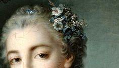 Portrait de Mme Baudouin (Détails) François Boucher 18°S.